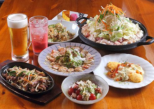 平日2ドリンク付き2500円コース料理